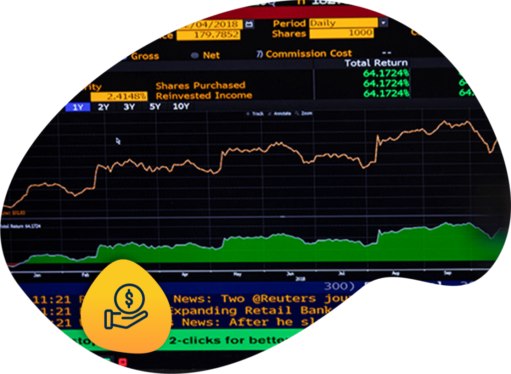 Bloomberg terminal with icon for smart infrastructure finance strategic direction